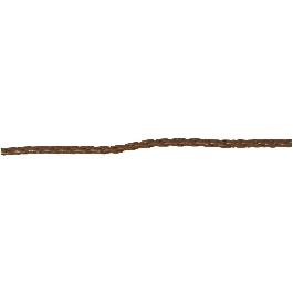 Fonott műbőr szalag, barna, 4 mm, 1,5 m