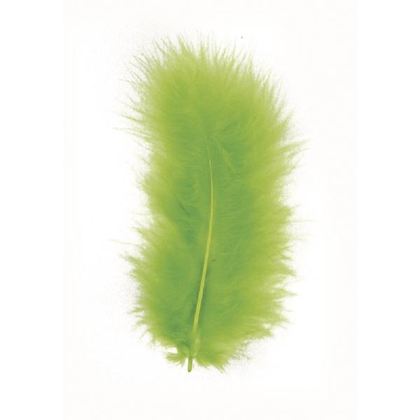 Madártoll, 8 cm, vil.zöld, csom. 10 db