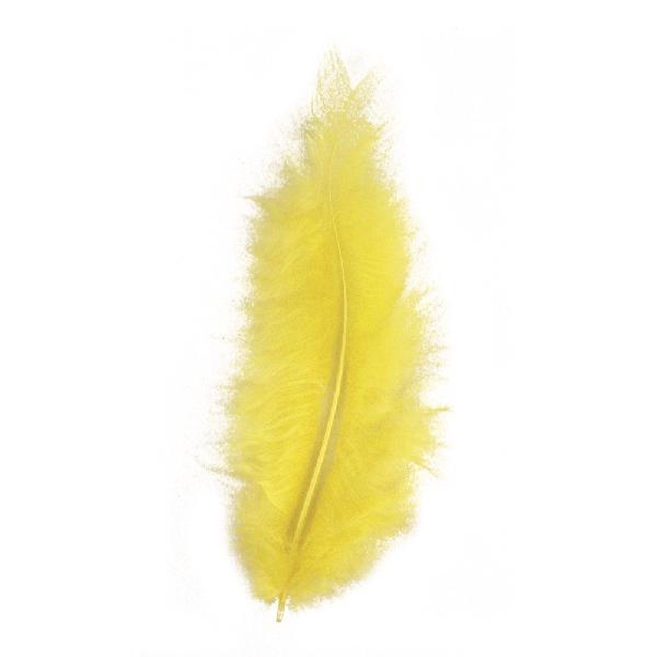 Madártoll, 8 cm, sárga, csom. 10 db