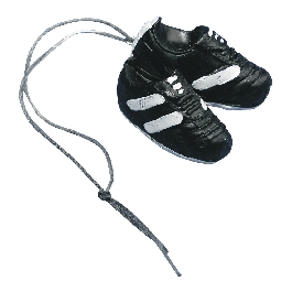 Poliresin futballcipő, 4 cm, felakasztvilágos