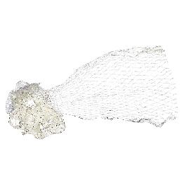 Halászháló, 60x125 cm, natúr, csom. 1 db