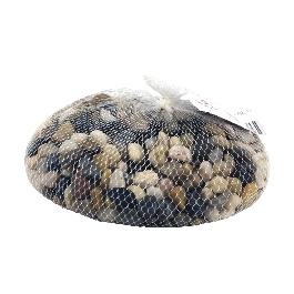 Folyami kavics hálóban, 1 kg, középbarna