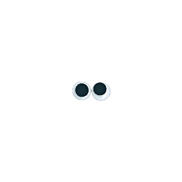 Műanyag mozgó szem, átm. 12 mm, csom. 10 db