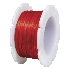 Gumis damil, 1 mm, piros, csom. 5 m/tek.