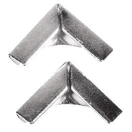 Fémsarok könyvborítóhoz, ezüst, 14x14 mm, csom. 4 db