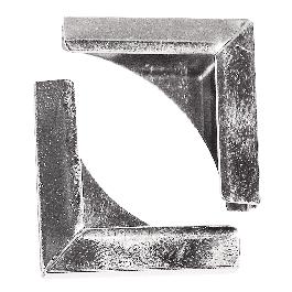 Fémsarok könyvborítóhoz, ezüst, 21x21 mm, csom. 4 db