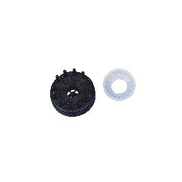 Szalmahasító + csillagkészítő forma, 4,5 cm, fekete, csom. 1 db