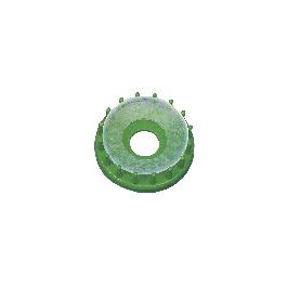 Szalmacsillag-készítő forma, 6 cm, zöld, csom. 1 db