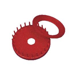 Szalmacsillag-készítő forma, 9 cm, piros, csom. 1 db