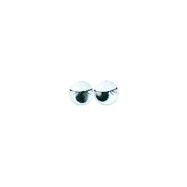 Műanyag mozgó szem szempillákkal, fekete, 12 mm, ragasztható, csom. 10 db