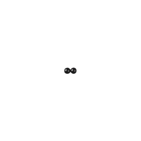 Állatszemek, 5 mm, csom. 20 db, műa. félgyöngyök, fekete, ragasztható