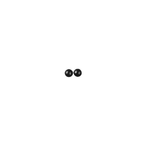 Állatszemek, 6 mm, csom. 20 db, műa. félgyöngyök, fekete, ragasztható