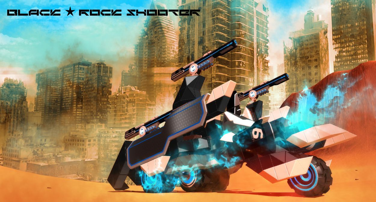 "motorcycle shooting game  Black☆Rock Shooter"" Rail motorcycle - Robocraft Garage"