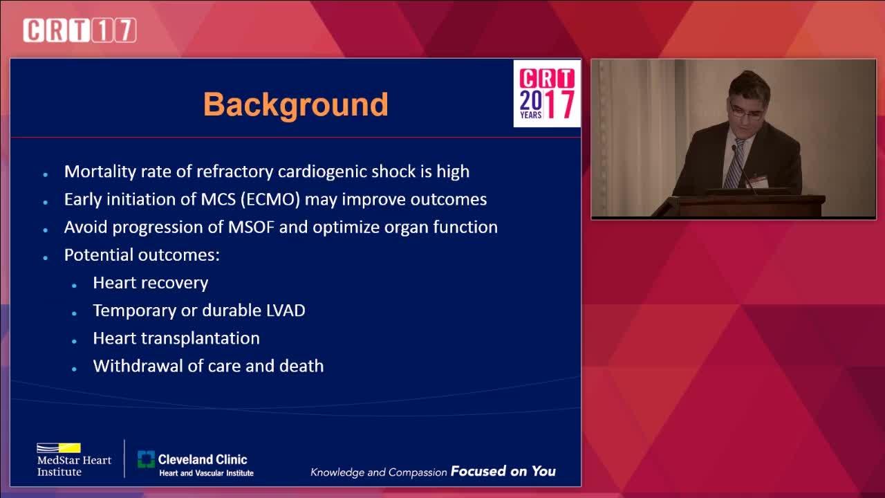 Role of ECMO in Acute Cardiogenic Shock - Ezequiel Molina