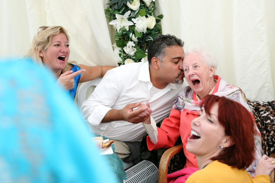 100th birthday party photography at bury st edmunds, lots of laughter