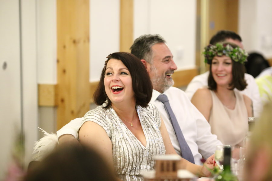 laughter at fun wedding, essex wedding photography