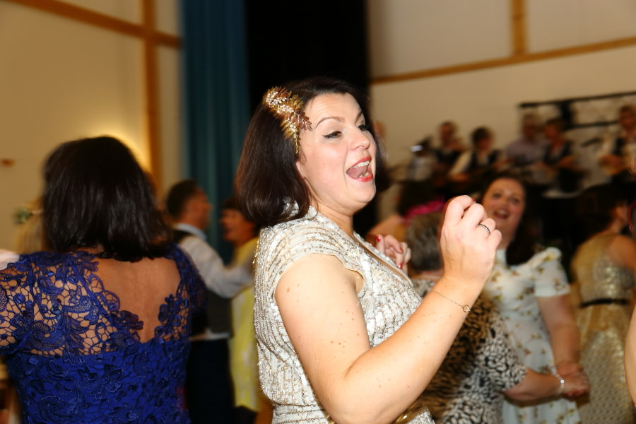 dancing to the ukeleles at manuden village hall essex