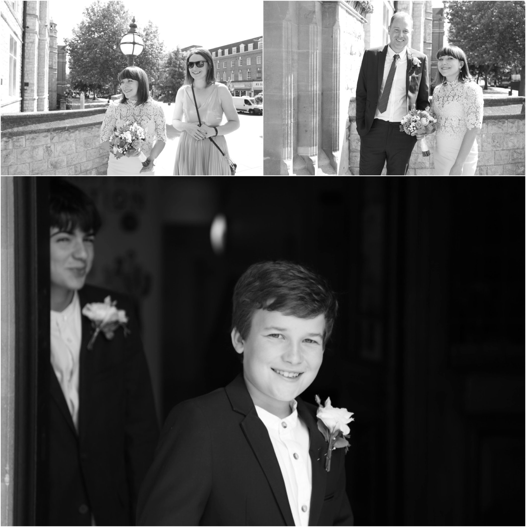 black and white london elopement photography