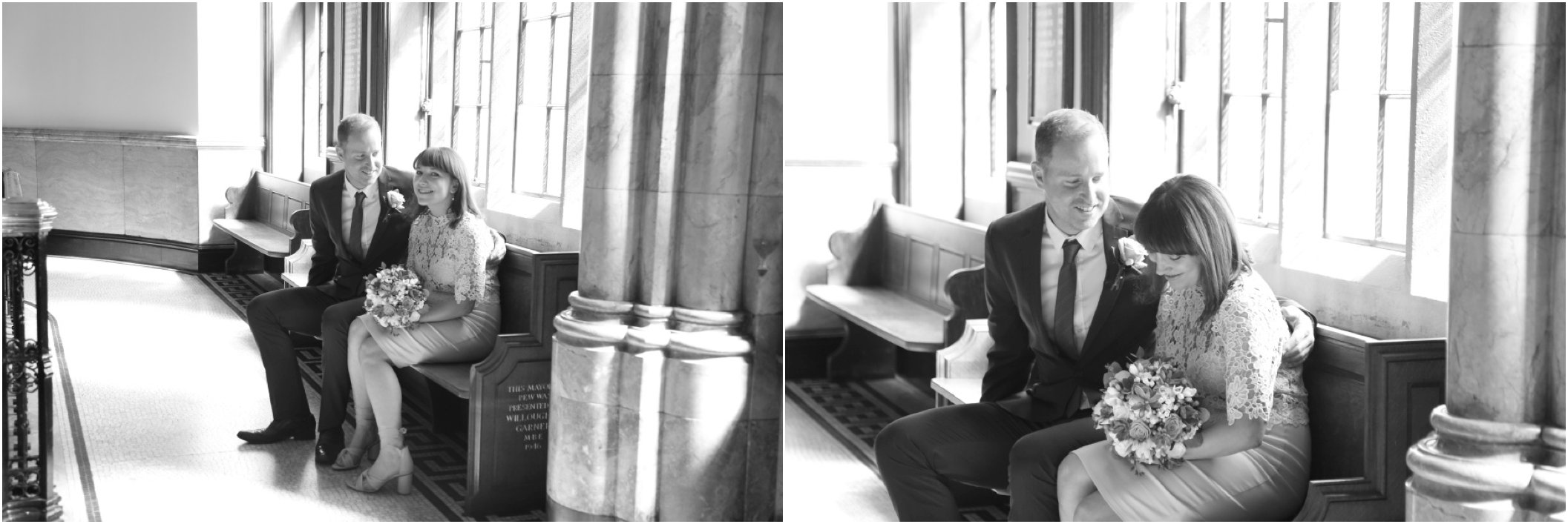 Natural London elopement photography, Black and white