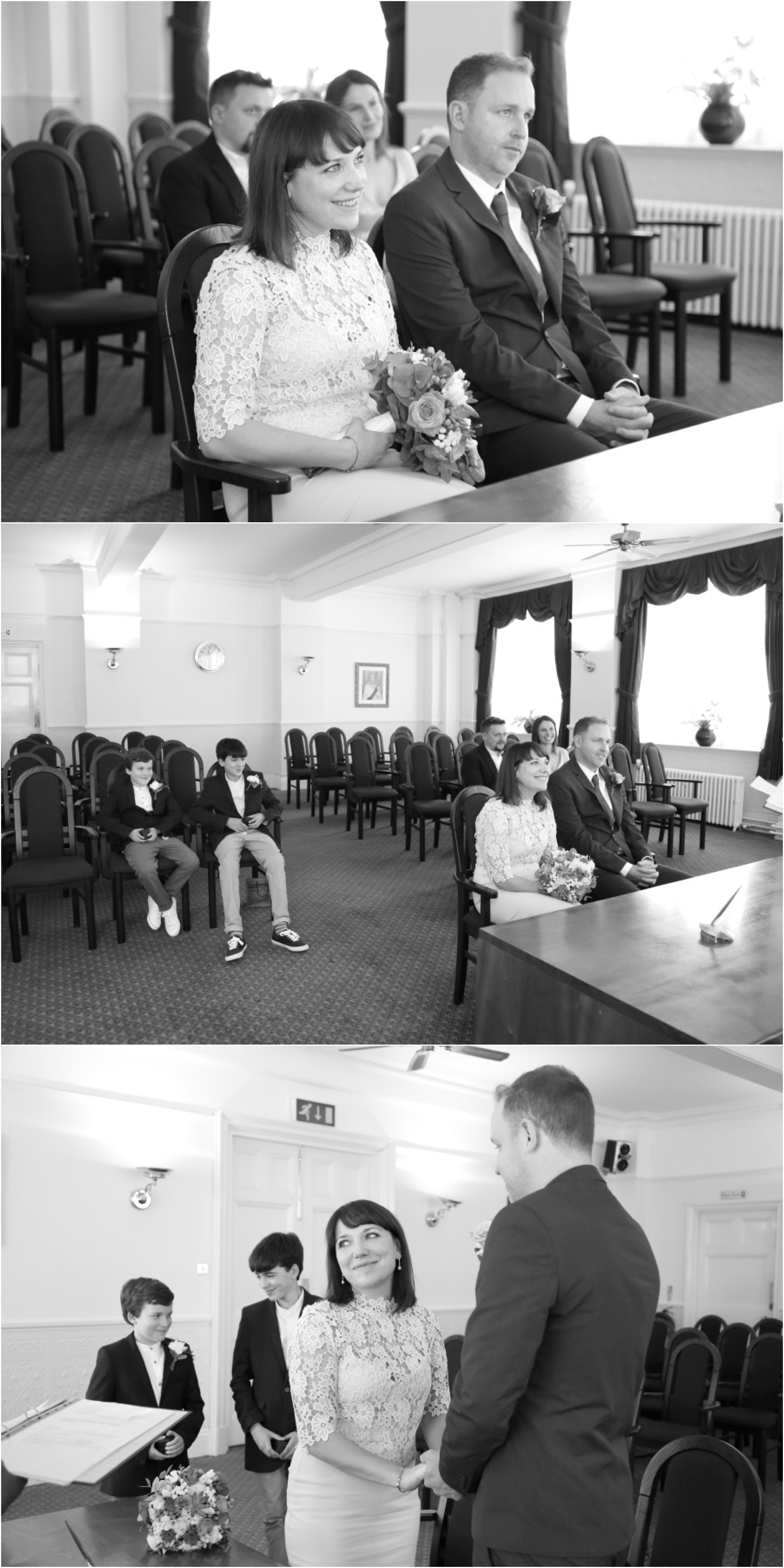 intimate elopement, London wedding photography Ealing Town Hall