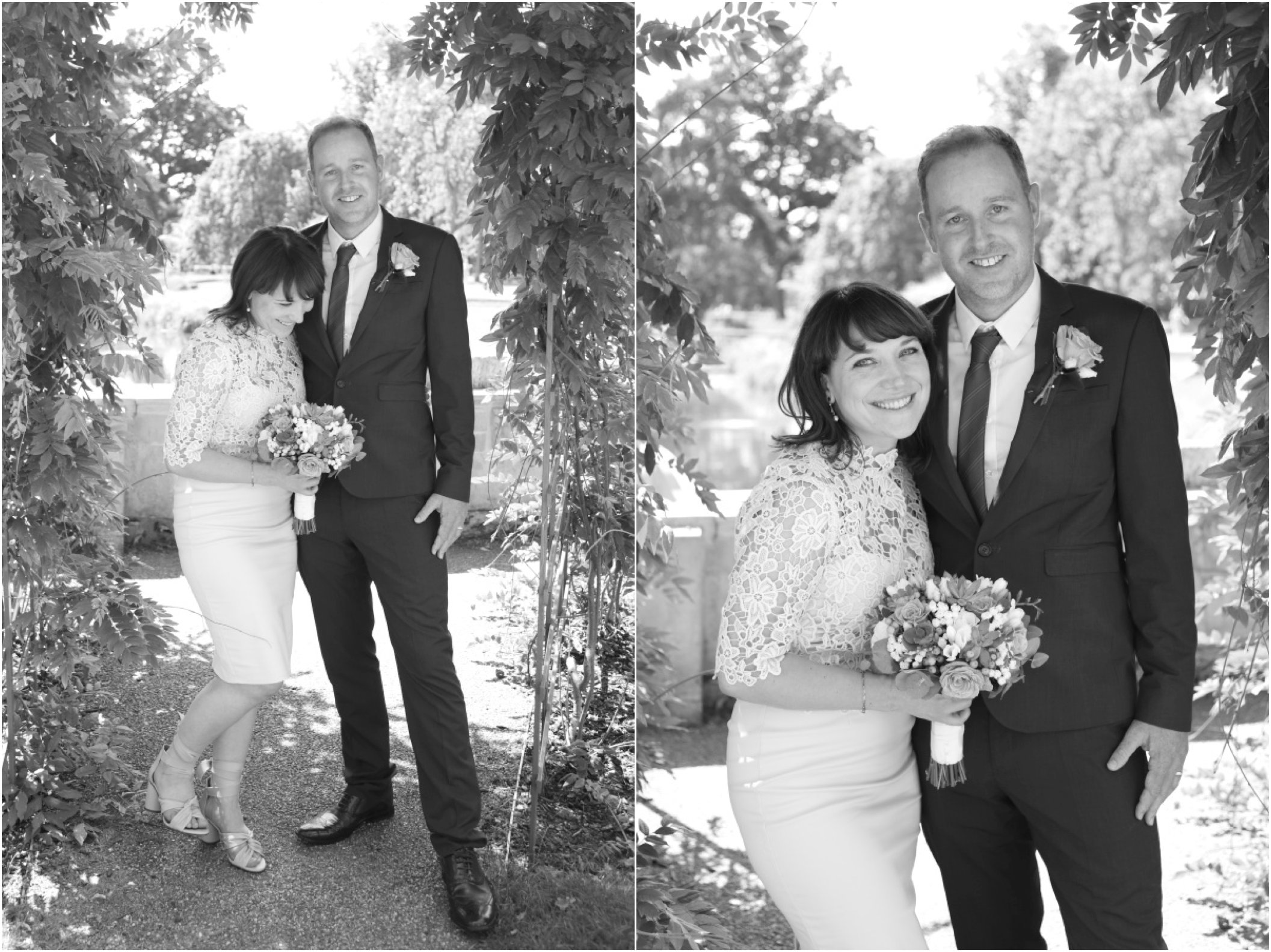 ealing wedding photography, natural black and white elopement photo