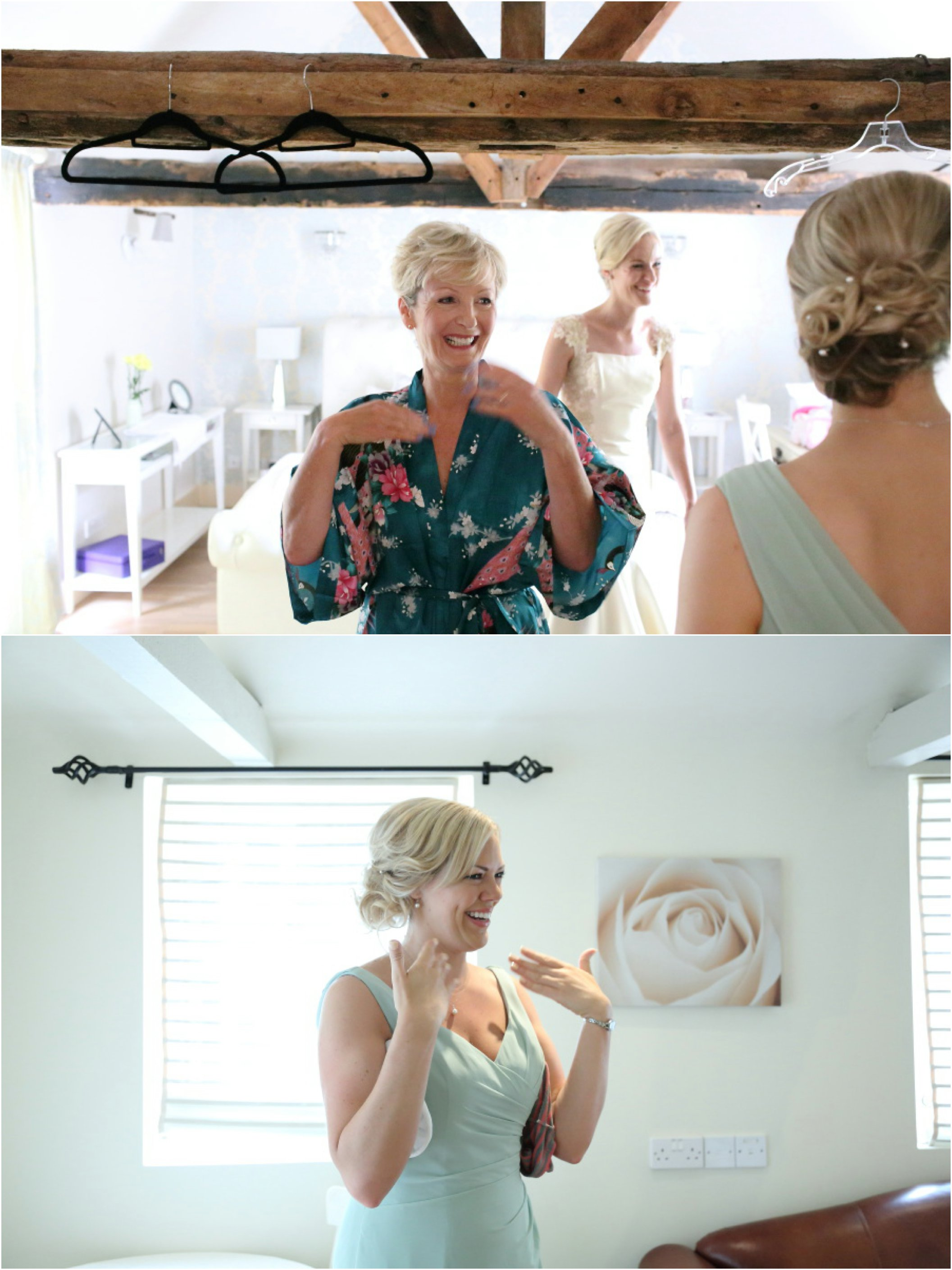 emotion mother of the bride at white dove barns wedding