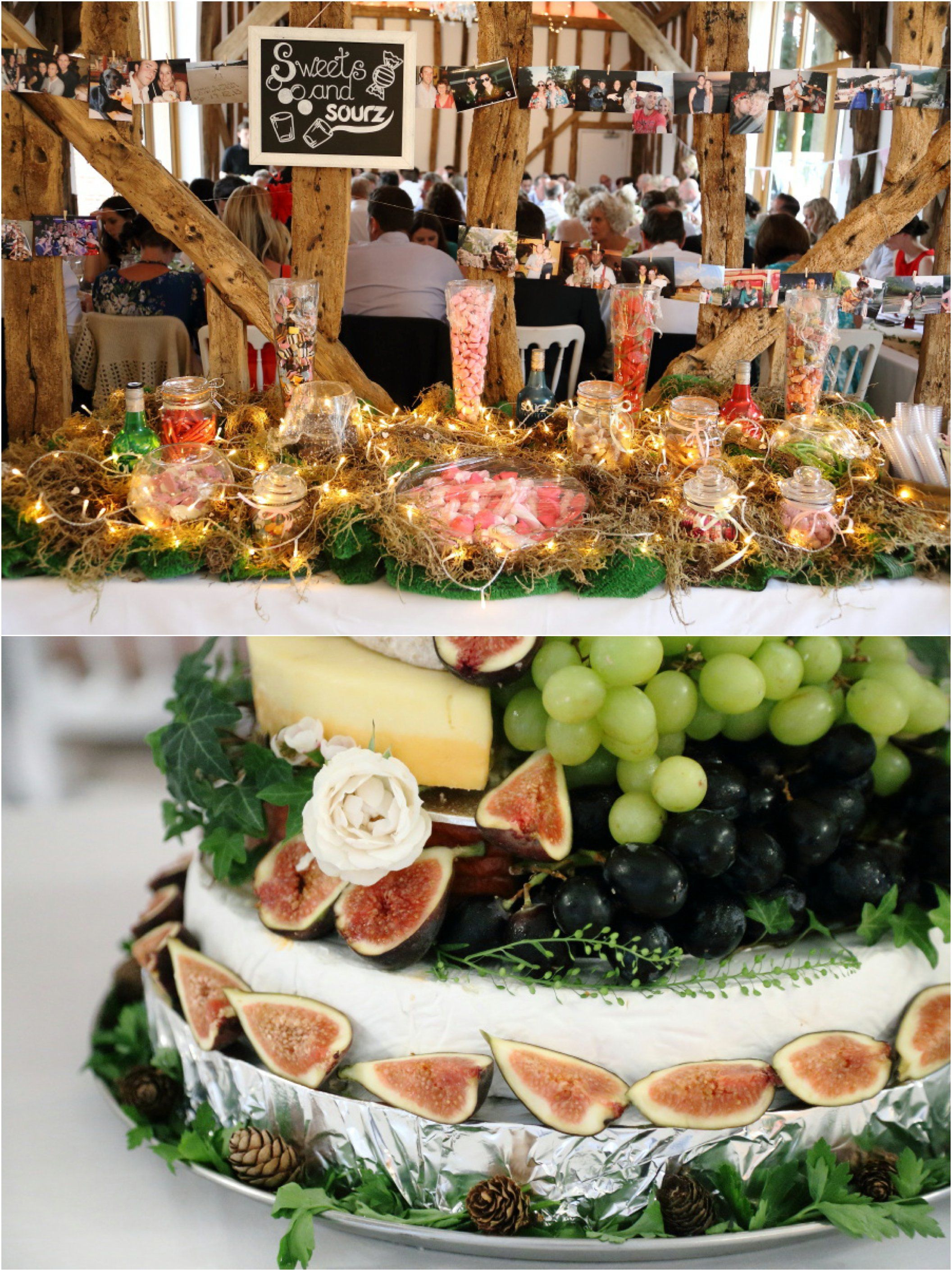 sweet table and cheese cake, suffolk wedding photography