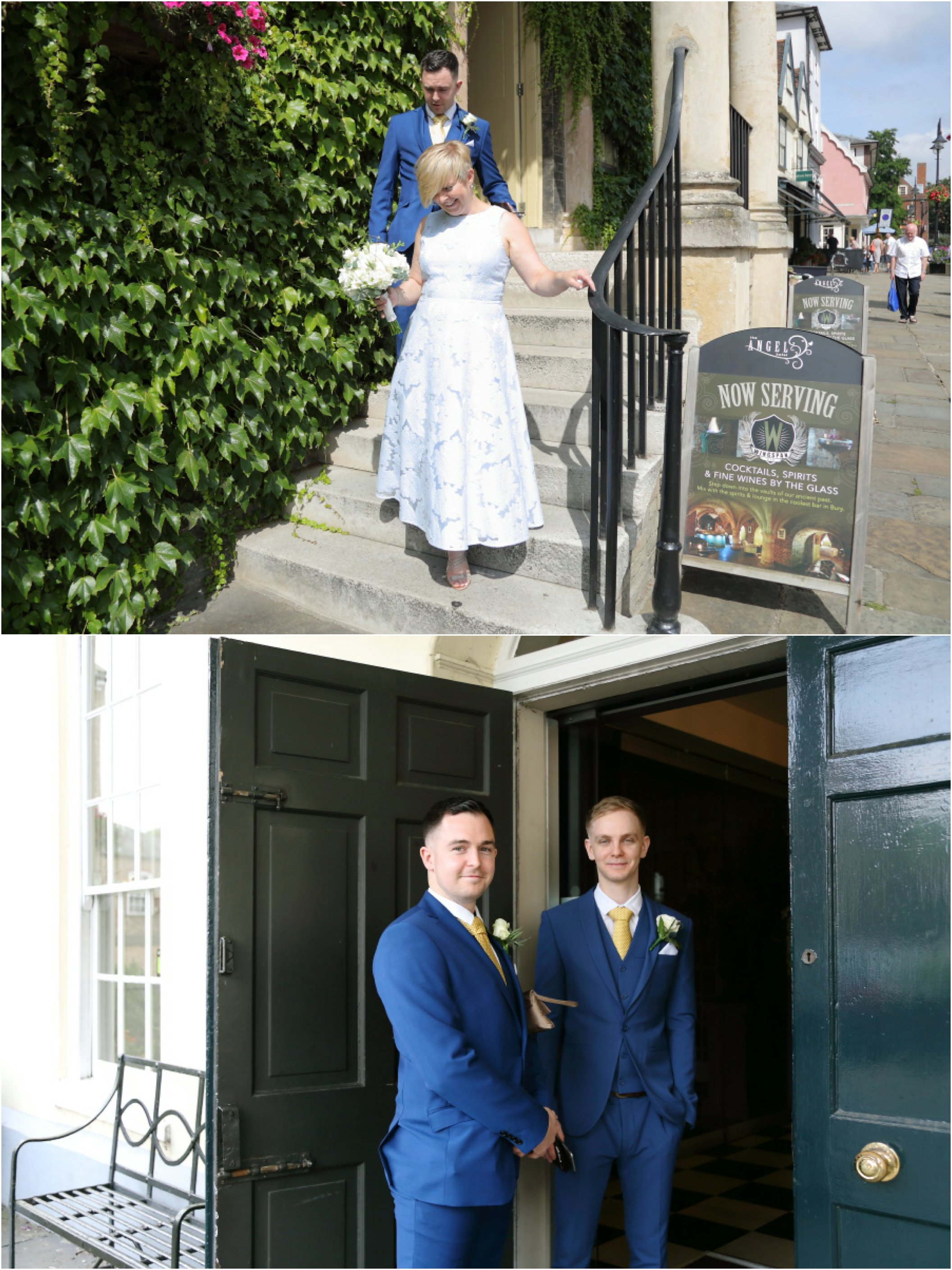 heading to the Athenaeum in Bury St Edmunds for elopement wedding