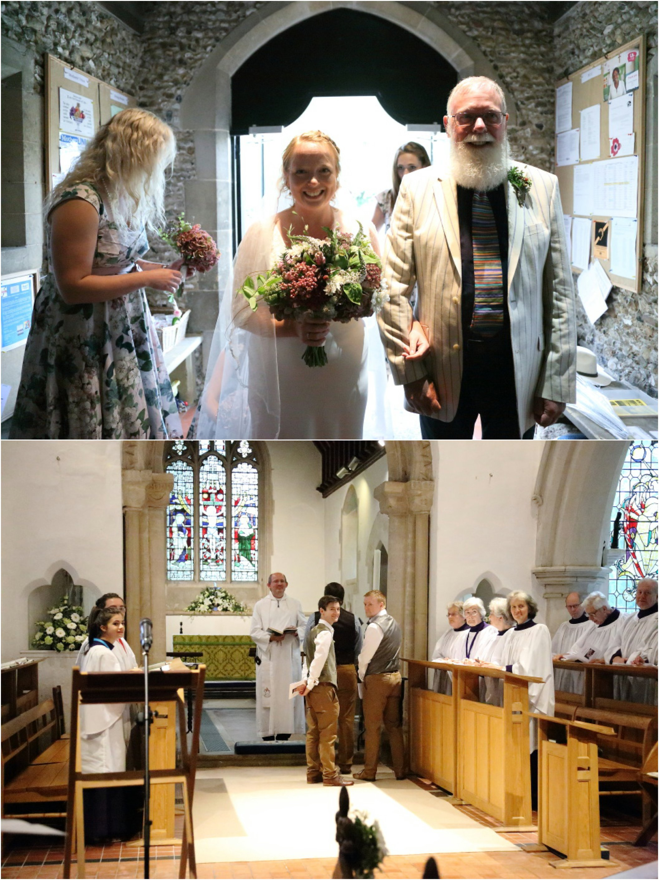 wedding at St Andrews Church, Stapleford Cambridge
