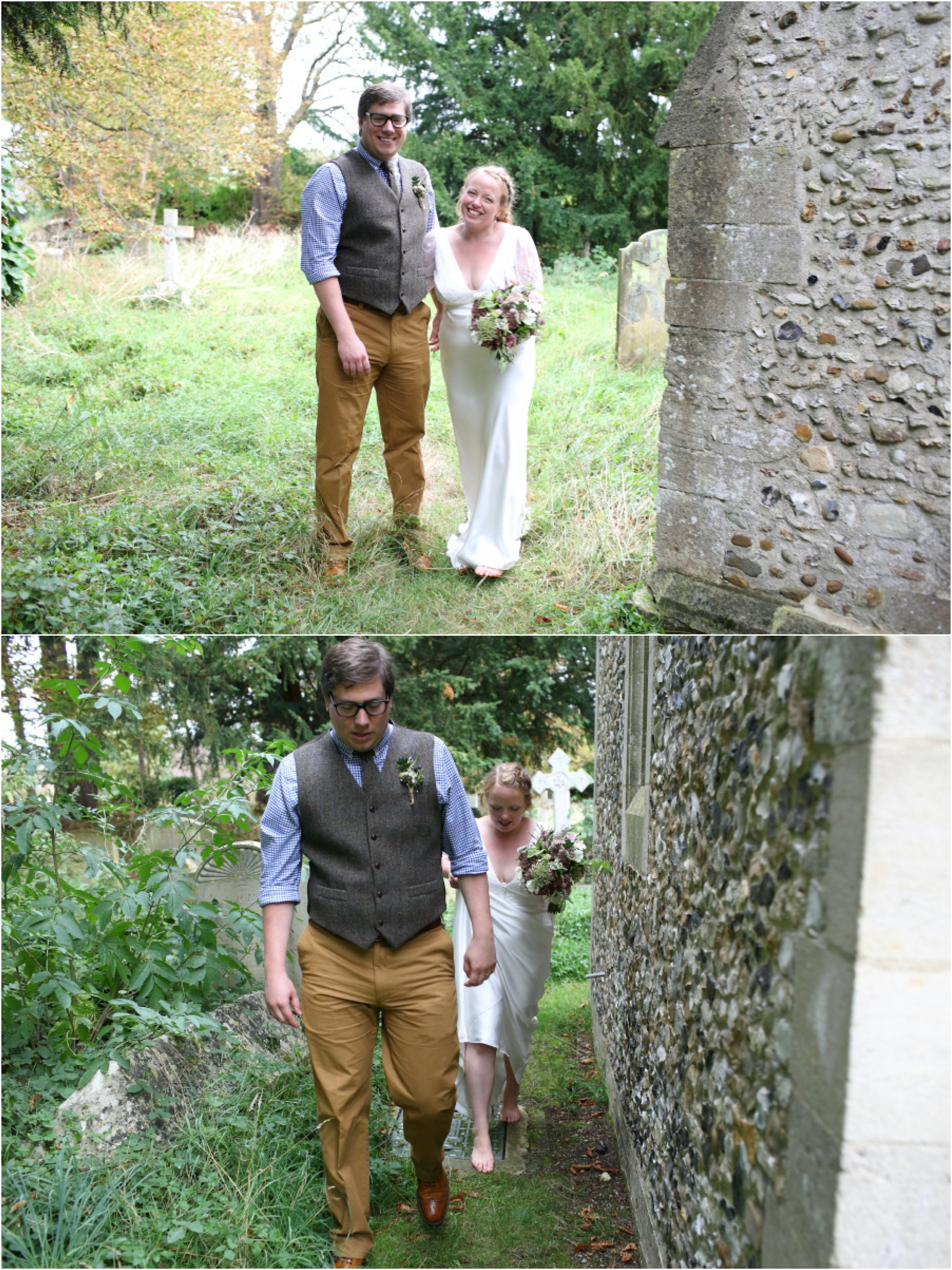 Stapleford Church wedding followed by rustic reception at Childerley Long Barn