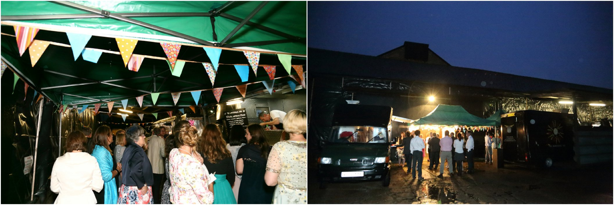 amazing street food vans at Childerley wedding reception, Cambridge