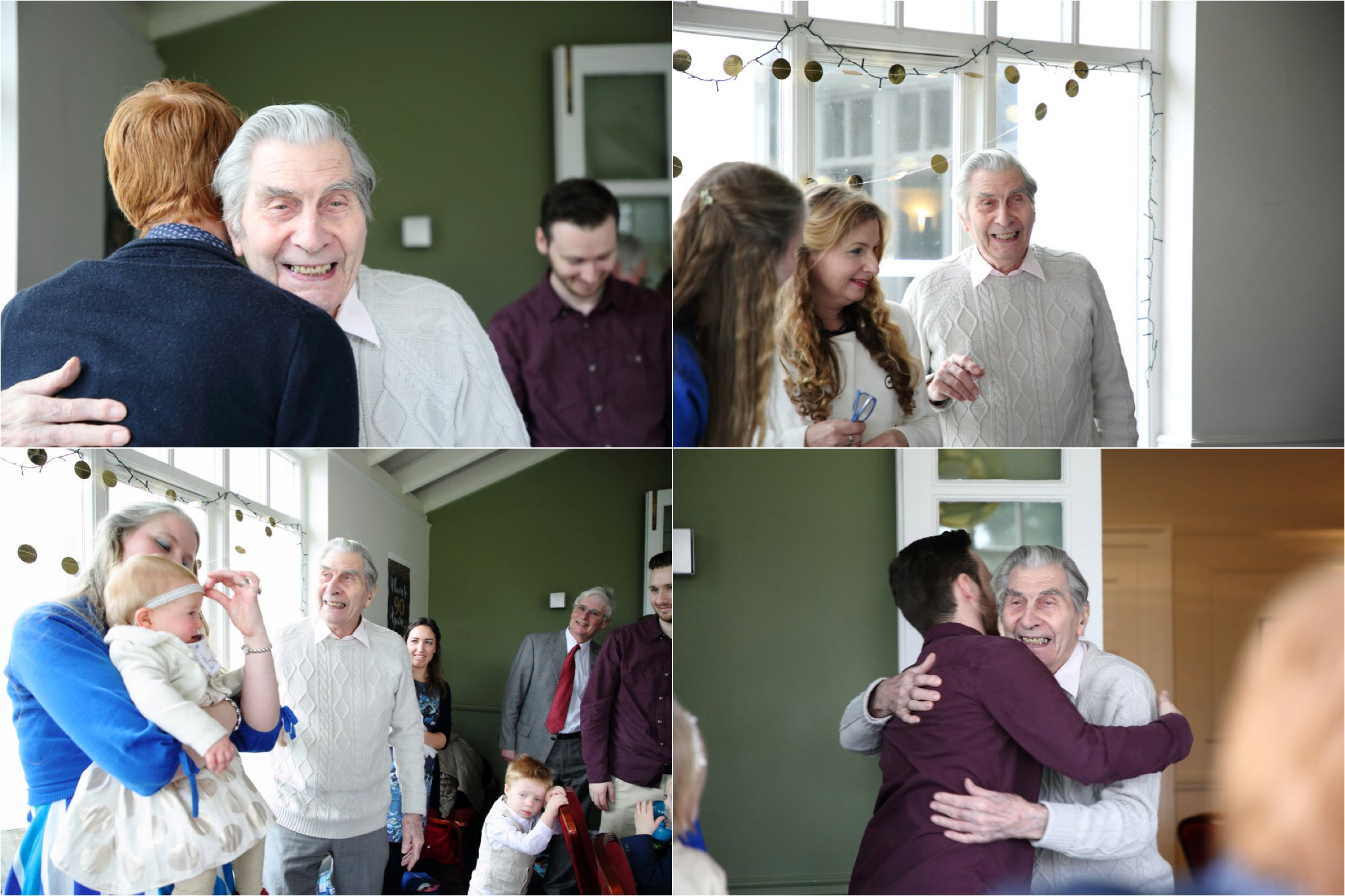 relaxed event photography at 90th birthday party, bury st edmunds