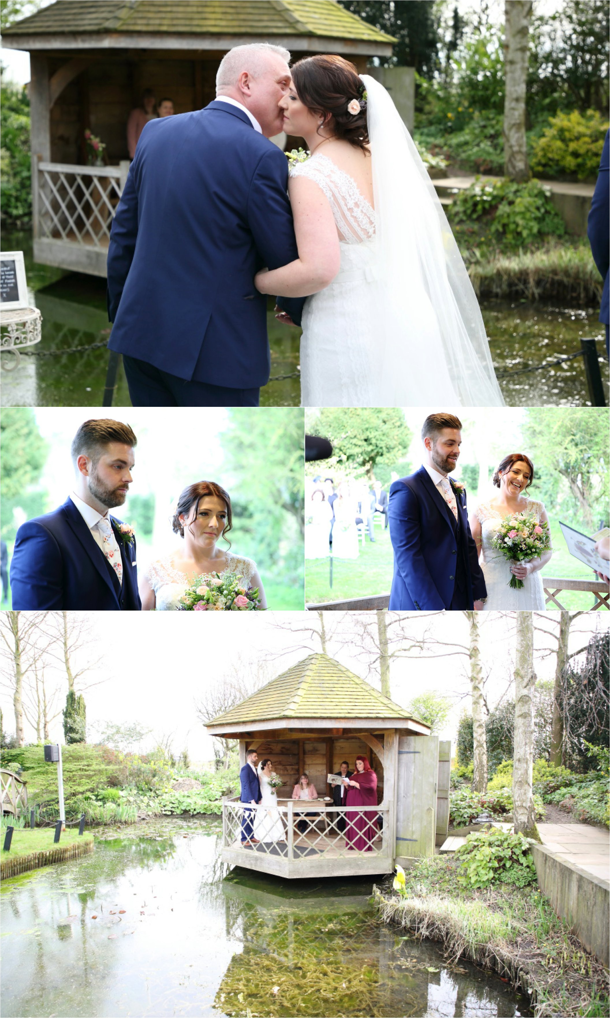 outdoor wedding ceremony at south farm, Cambridge