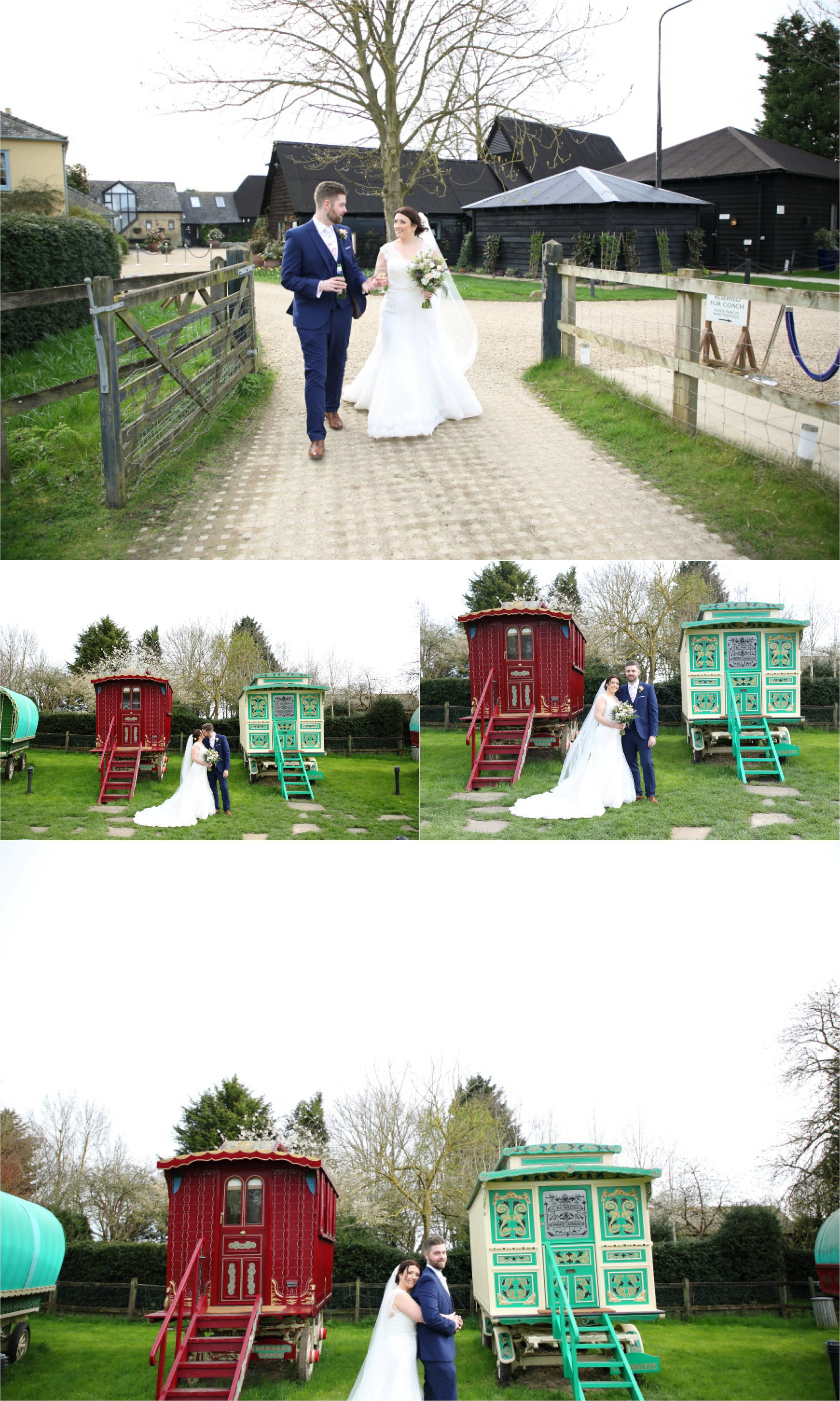 south farm wedding photography, vintage gypsy caravans