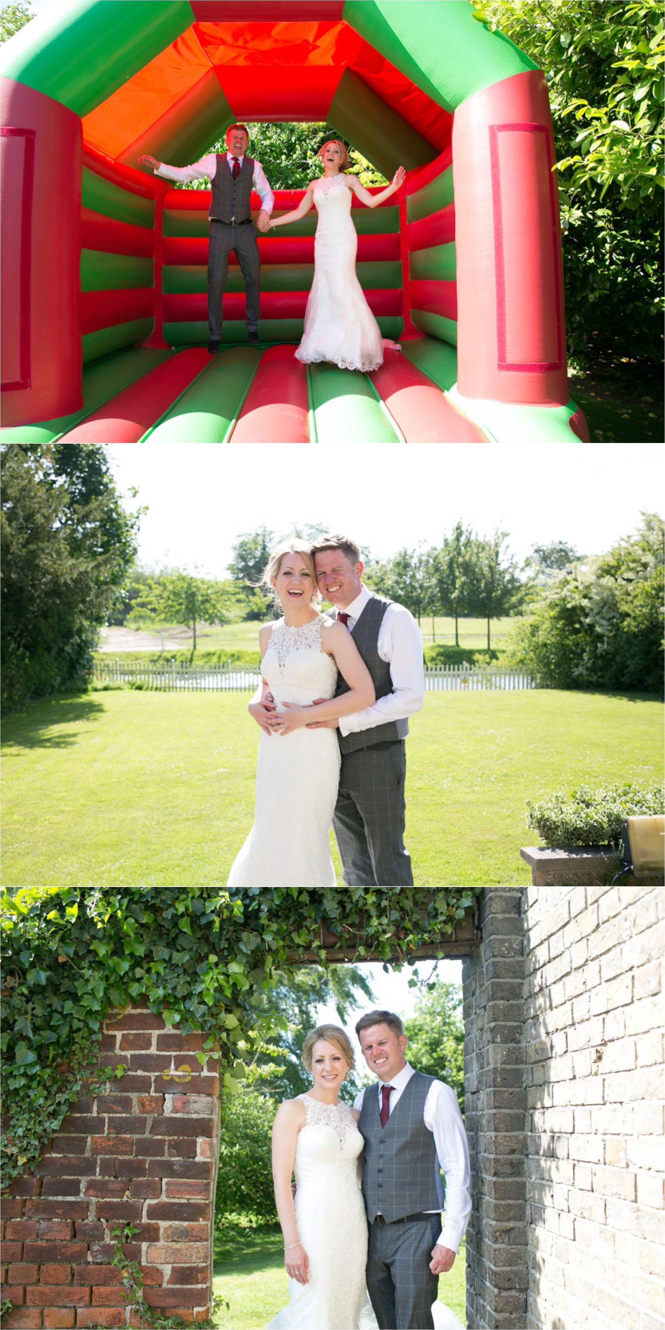 bouncy castle fun at reid rooms wedding, alternative and fun wedding photography