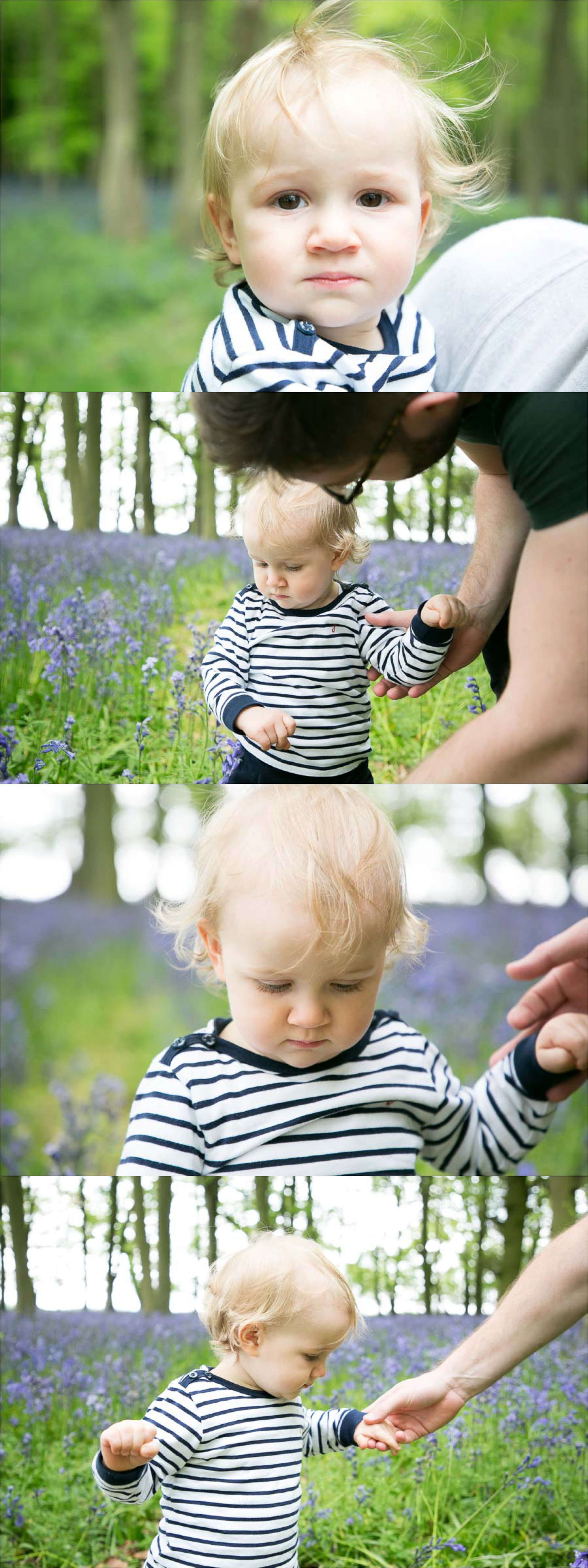 beautiful child, saffron walden family photography in bluebell woods