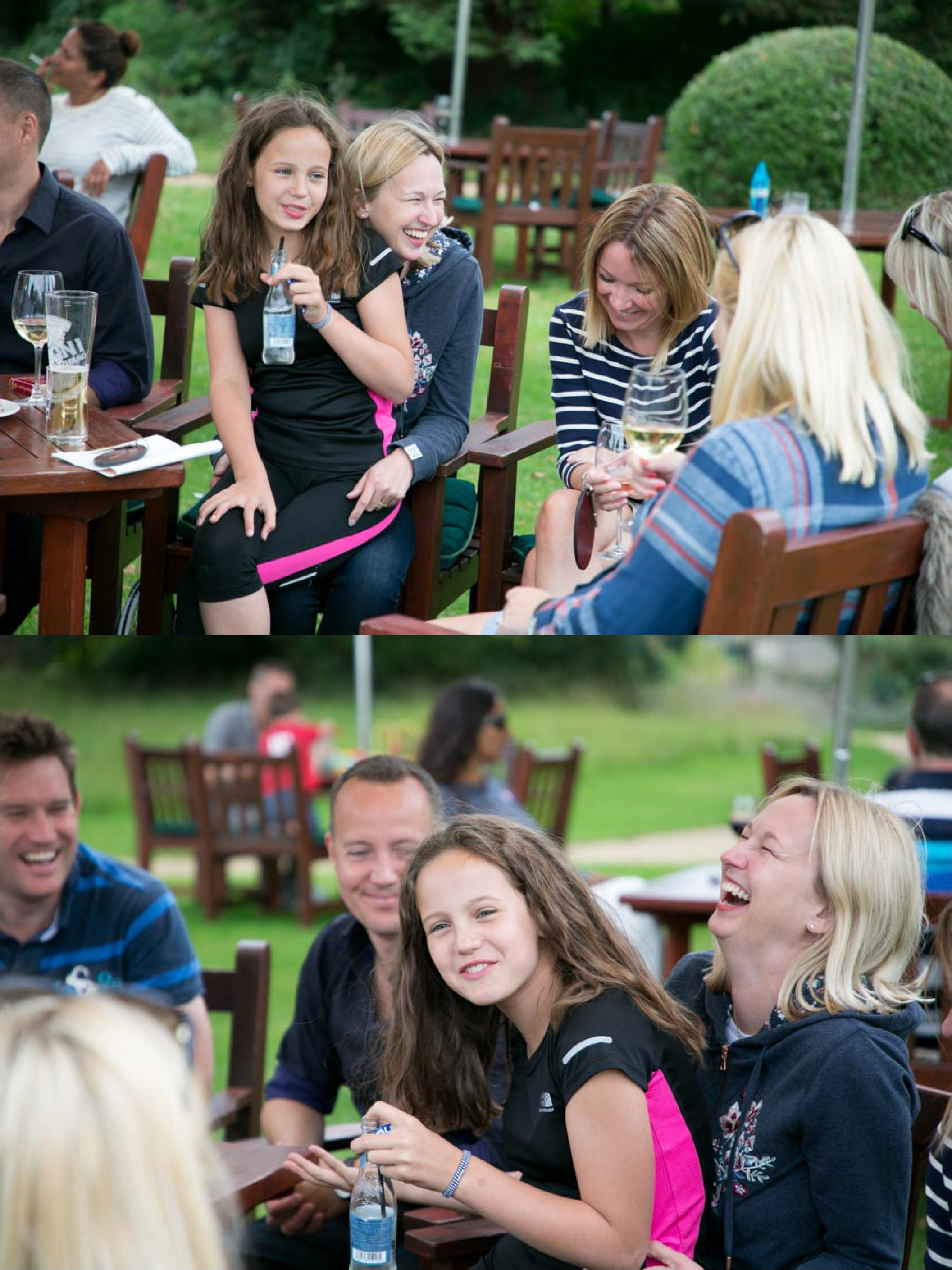 laughter at party at ickworth hotel suffolk