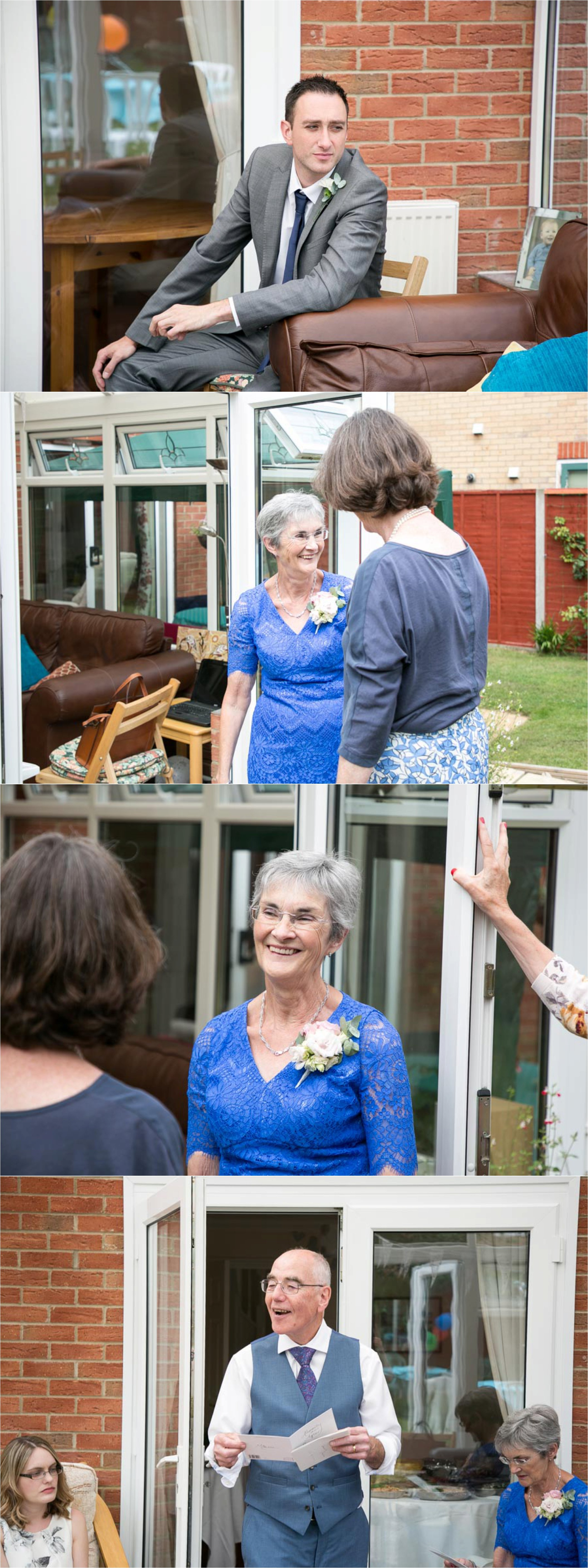 relaxed wedding photography at home reception, haverhill suffolk