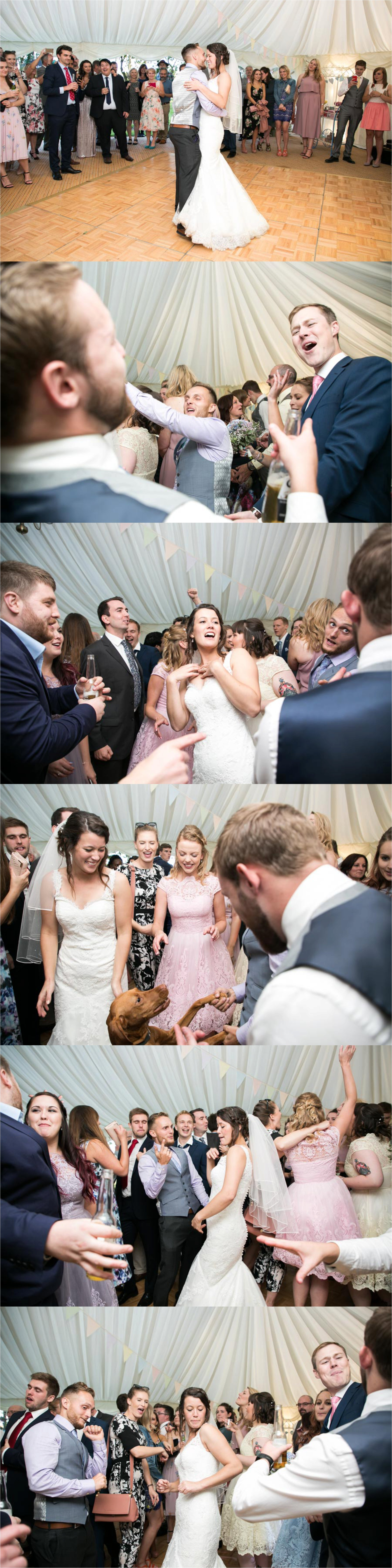 marquee first dance at bury st edmunds wedding