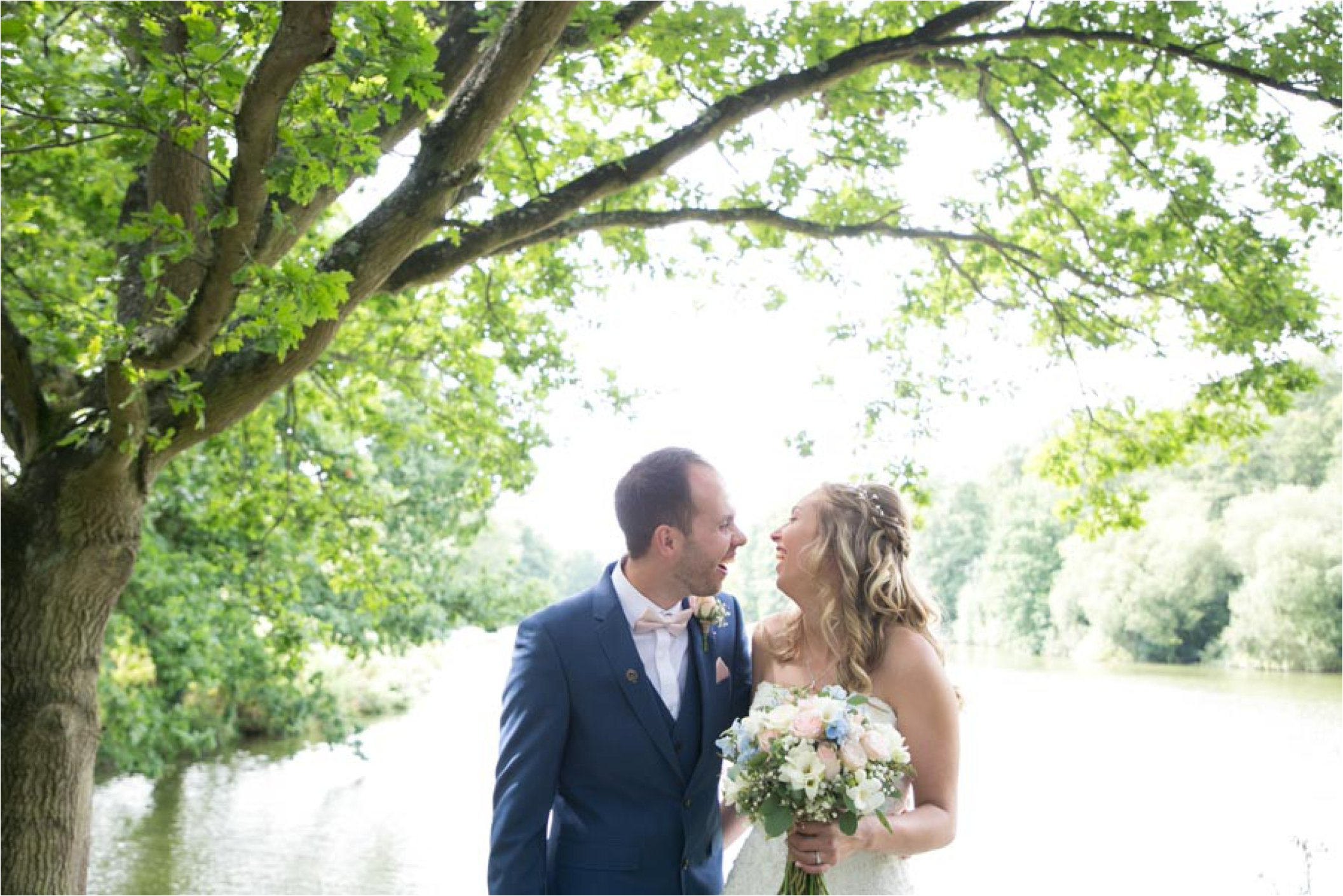 relaxed couple at stoke by nayland wedding
