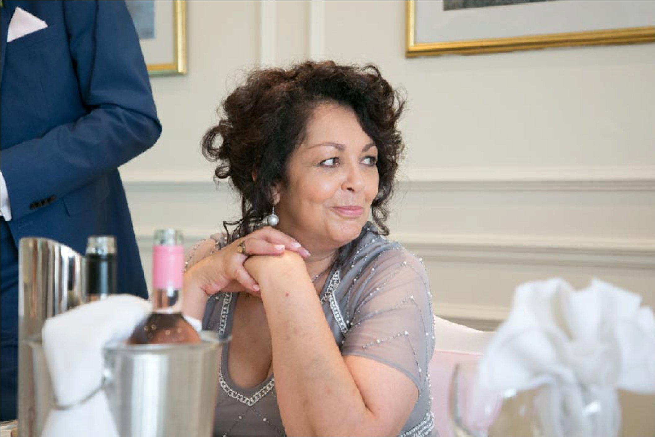 mother of bride at stoke by nayland wedding