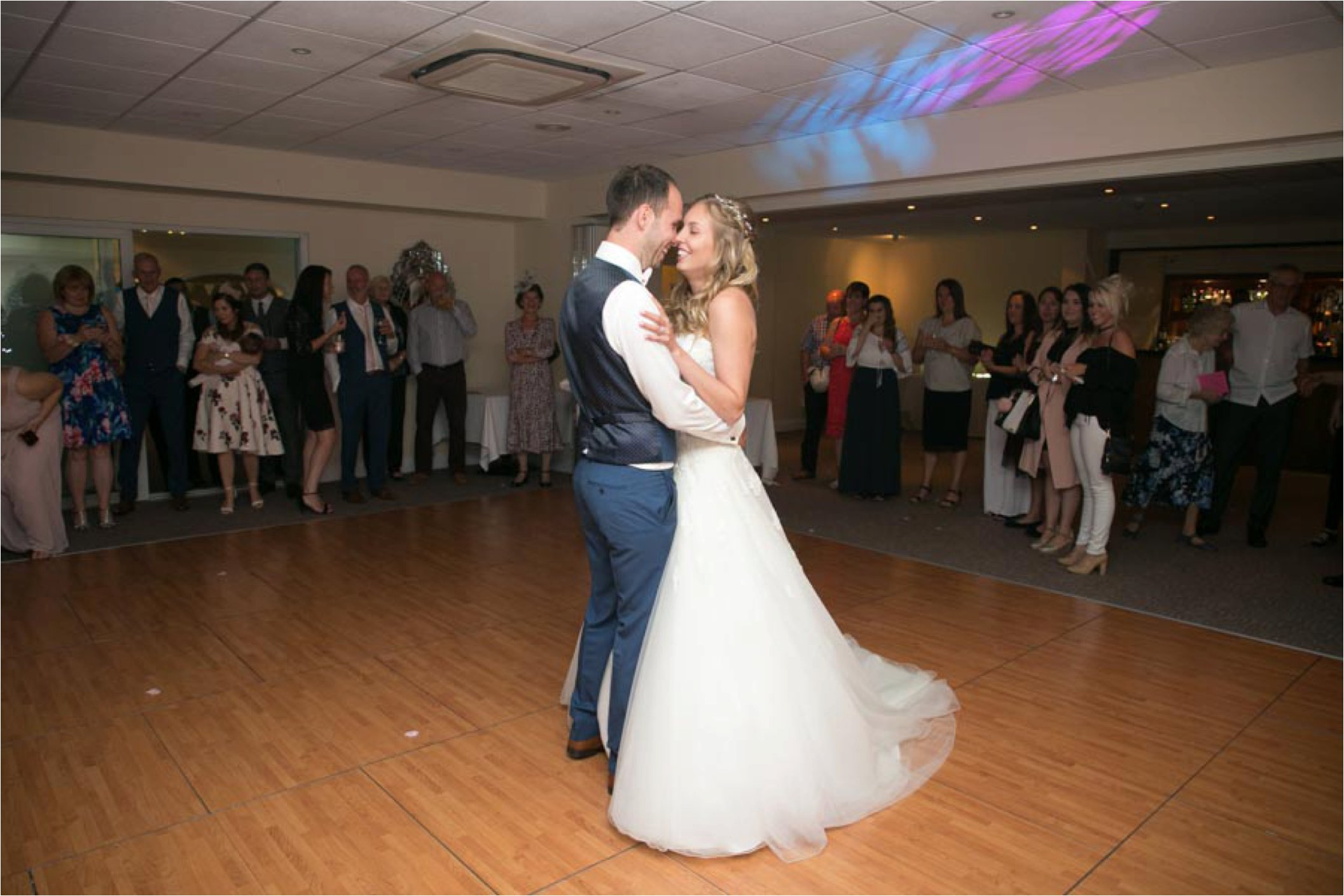 first dance at stoke by nayland golf club