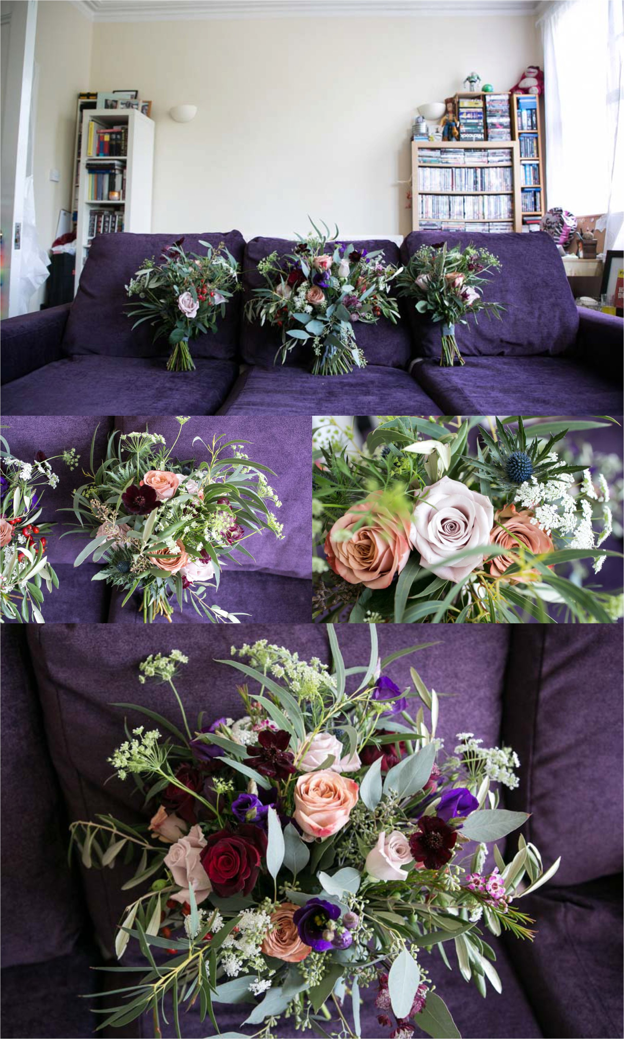 wedding flowers by Violets and Vlevets, london wedding