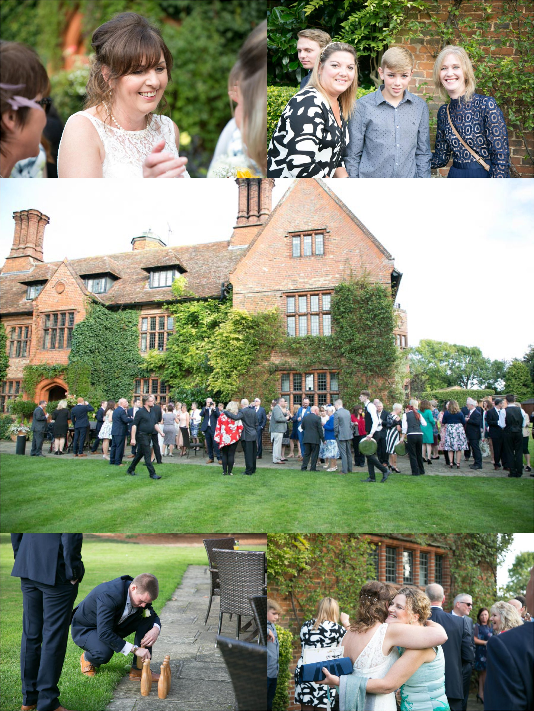 fun wedding photography at woodhall manor suffolk