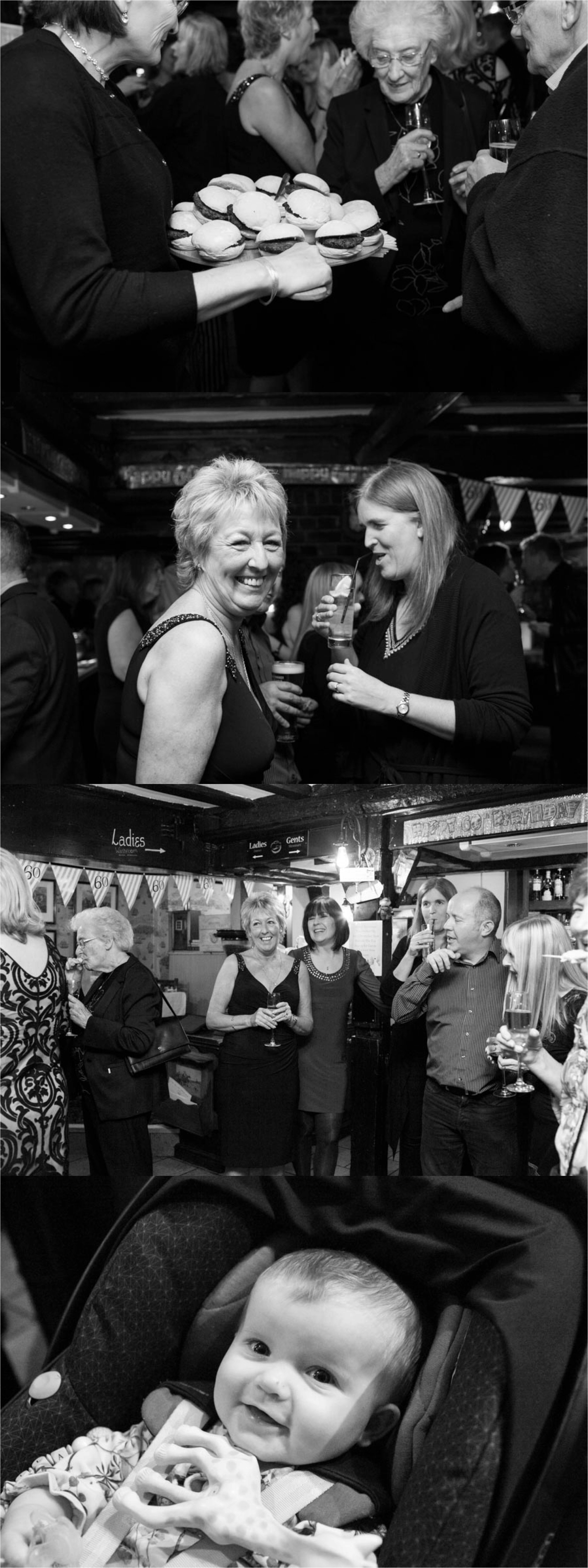 creative relaxed photography at 60th birthday party essex