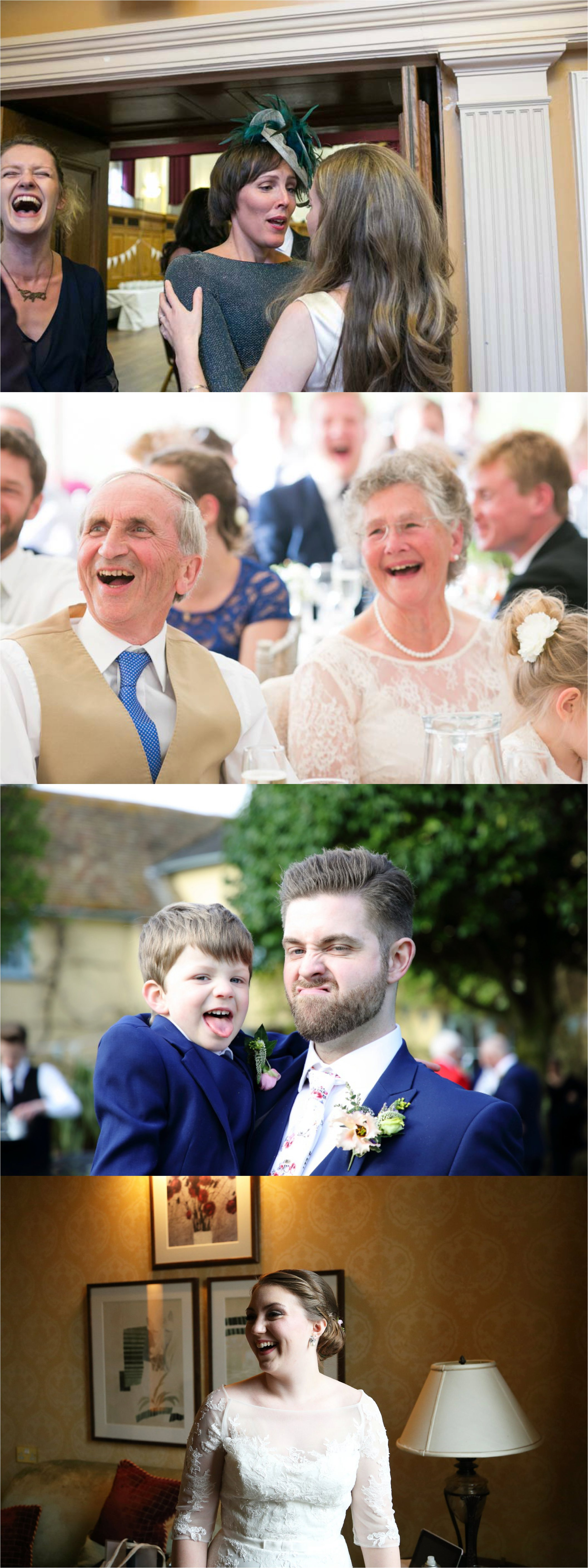 fun laughing documentary wedding photography, fun expressions