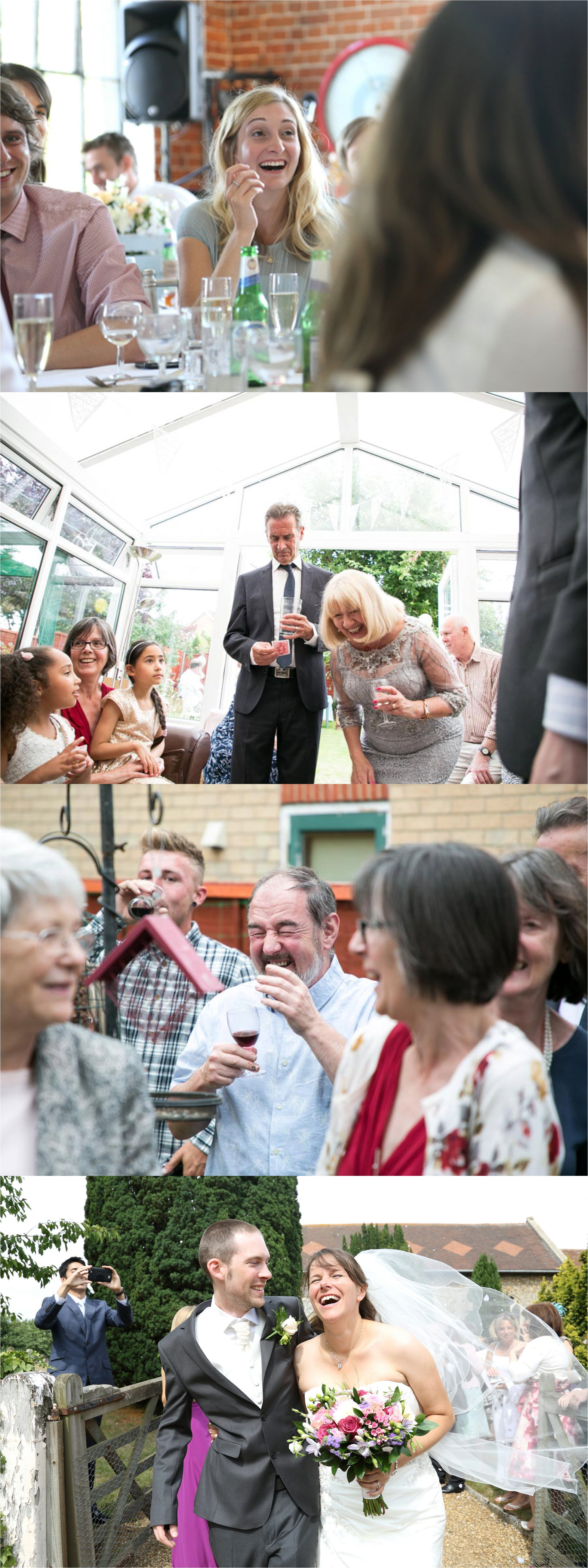 wedding photography capturing laughter and fun times, documentary wedding photography suffolk