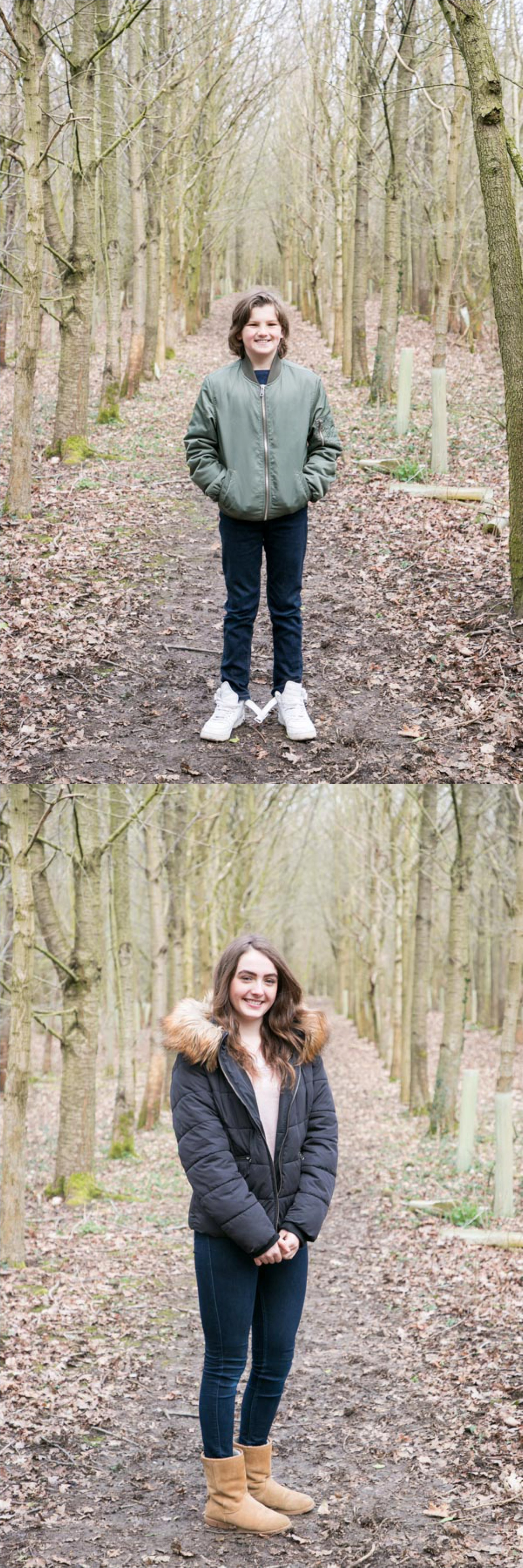family and teen photography in suffolk woodland