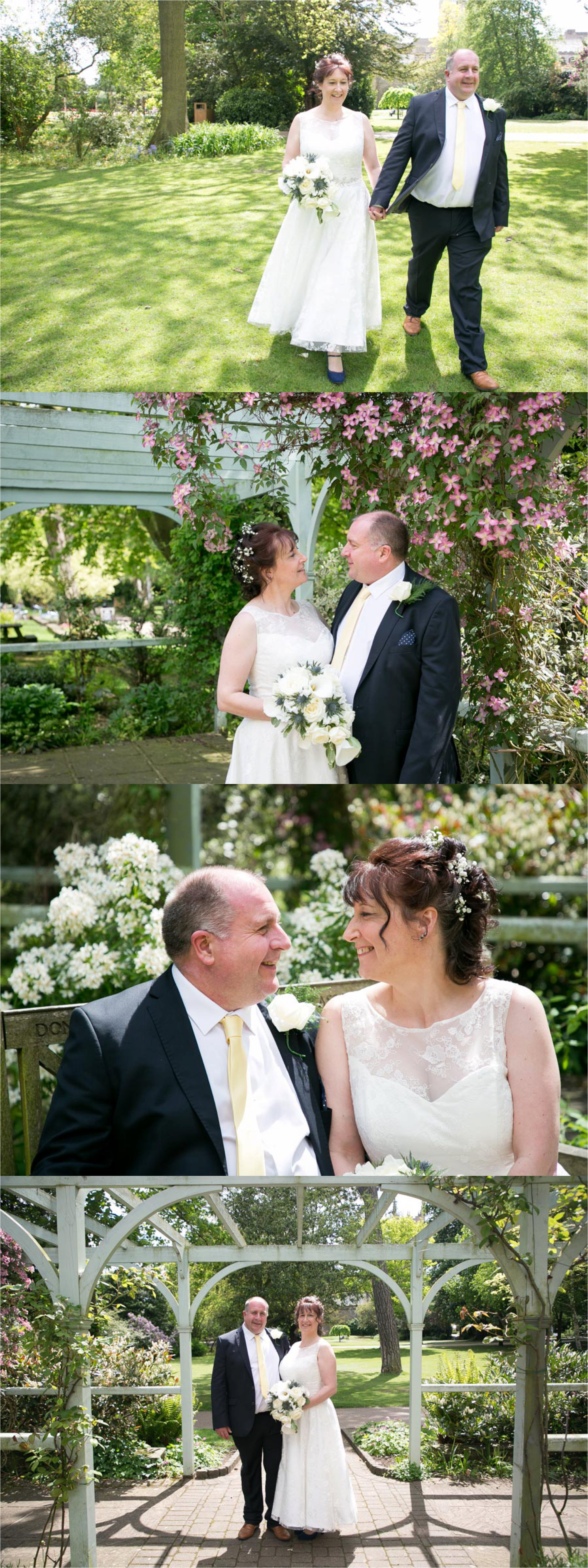 Wedding at Athenaeum Bury St Edmunds, with photographs in Abbey Gardens