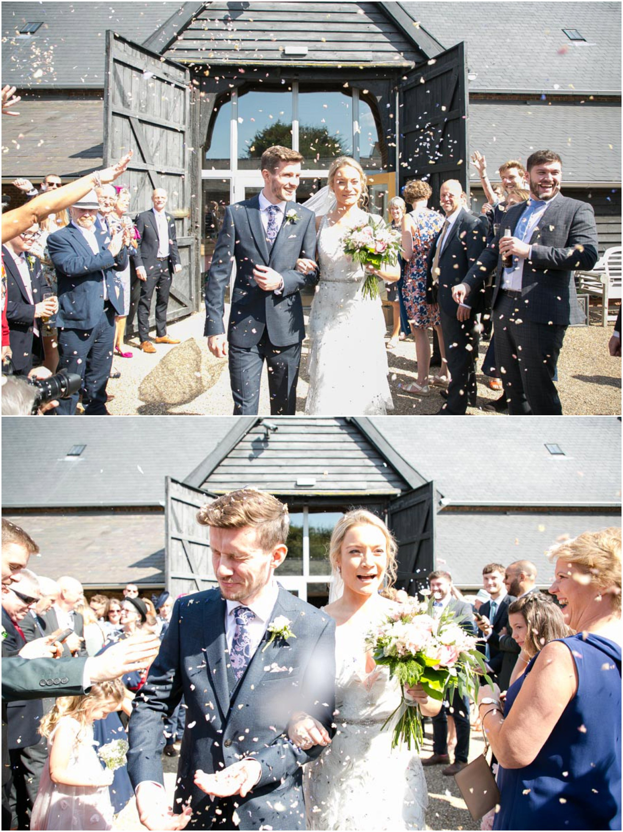 fun confetti photography at copdock barn